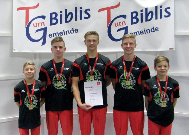Die Mannschaft LK 1, v. li.: Moses Zeidler, Paul Bartling, Jonathan Freiboth, Daniel Brandt und Jonathan Feilcke. Foto: nh