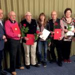 Dr. Edgar Franke, Paul Horn, Willi Siemon, Tanja Zülch-Mach, Herbert Otto, Monika Peter, Regine Müller (v.li.). Foto: nh