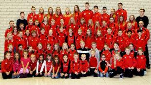 Zum Jahresabschluss beim TSV 05 in Remsfeld versammelten sich 79 Sportlerinnen und Sportler. Foto: nh