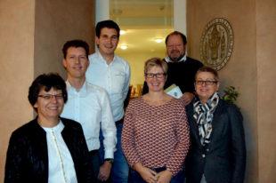 Der neue Vorstand (v.li.): Claudia Thiel, Dr. med. Jochen Röthele, Nico Kinscher, Silvia Siekmann, Dr. med. Franz-Peter Pfingsten, Alexandra Sorge. Foto: nh