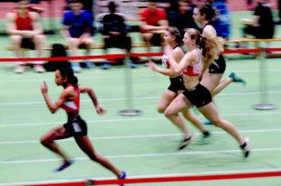 Nele Schmoll belegte nach einem schwachen Start im 60m-Vorlauf noch den 2. Platz und qualifizierte sich für den Zwischenlauf. Foto: nh