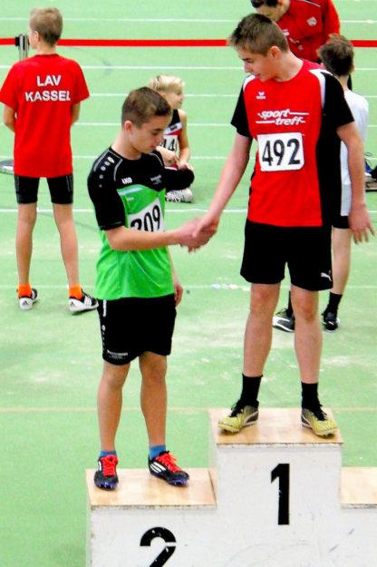 Niclas Dittmar gewann den Weitsprung mit 5,08 m vor Aiden Harrison (Enkheim, 4,99 m). Foto: nh