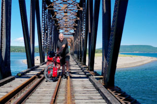 Reinhard Pantke auf Kanada-Radtour. Foto: Pantke