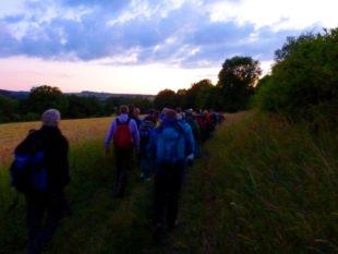 Die nächtlichen Wanderungen von der Hohenburg an den Silbersee werden von zertifizierten Wanderführern begleitet. Foto: nh