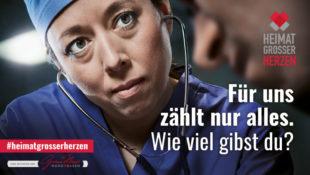 Eines der Kampagne-Motive in der »Heimat großer Herzen«. Repro: nh