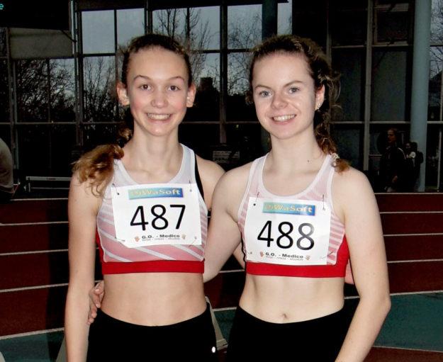 Ella Gleim und Vivian Groppe waren die einzigen MT-Athletinnen beim 36. Hallensportfest in Frankfurt. Foto: nh
