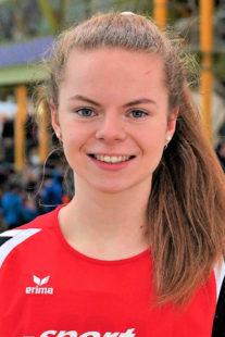 Freude bei Vivian Groppe, als sie ihre 300m-Zeit von 44,49 Sekunden erfuhr. Foto: nh