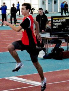 Holt sich Yannick Schleider mit einem Sprung über 12,50 Meter die Bronzemedaille? Foto: nh