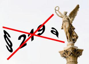 """""""Weg mit §219a"""" fordert die Arbeitsgemeinschaft Sozialdemokratischer Frauen (ASF). Bild: SEK-News"""