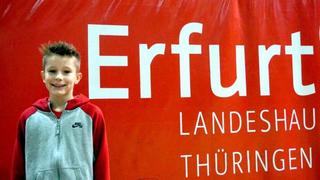Linus Schopf verbesserte in Erfurt den Kreishallenrekord über 800 Meter. Foto: nh