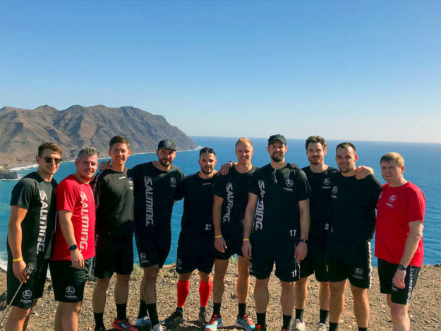 Die Spieler der MT Melsungen bereiten sich im Trainingslager auf Fuserteventura auf die 2. Saisonhälfte vor. Foto: MT Melsungen
