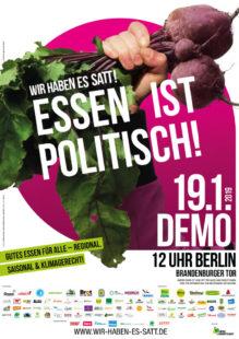 Aufruf zur Großdemo in Berlin gegen die Agrarindustrie. Repro: nh