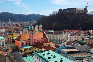 Blick auf die slowenische Hauptstadt Ljubljana Foto: WGT e.V. | Heine