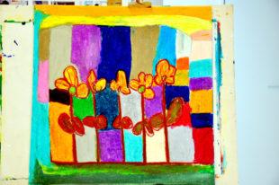 Leuchtende Farben: Die Ausstellung »So ist das« des Hephata-Ateliers Farbenhaus mit 30 Exponaten von Künstlern mit und ohne Behinderung ist ab dem 10. März im Alten Bahnhof in Gemünden zu sehen. Foto: Hephata