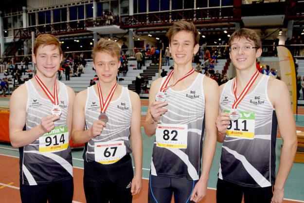 Lucas Natusch, Martin Soose, Paul Kirschner, Fabian Feldmann (v.li.). Foto: Bernd Feldmann