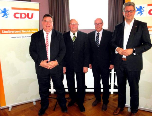 Mark Weinmeister, Jürgen Lepper, Martin Theune und Patrick Burghardt (v.li.). Foto: nh