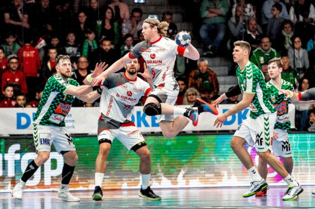 Der beste Torschütze des Spiels war Tobias Reichmann (10/5). Foto: Alibek Käsler