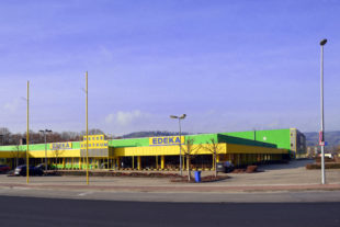 Edeka Messezentrum auf den Pfieffewiesen. Foto: Schmidtkunz