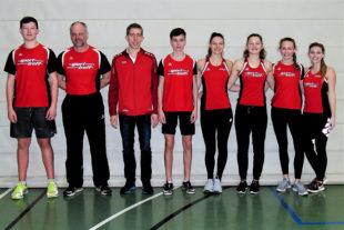 Das erfolgreiche Team der Melsunger Leichtathleten bei den nordhessischen Hallenmeisterschaften. Foto: nh