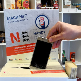 Im WERKRAUM können nicht mehr benutzte Mobiltelefone entsorgt werden. Foto: nh
