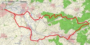 Im Kartenausschnitt ist die »Eichwald-Runde« eingezeichnet. Foto: ADFC
