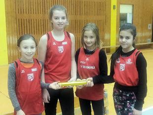 Die Staffelläuferinnen (v.li.) Klara Dithmar, Anne Eckhardt, Jule Birkenstock, Layla Al-Batat. Foto: