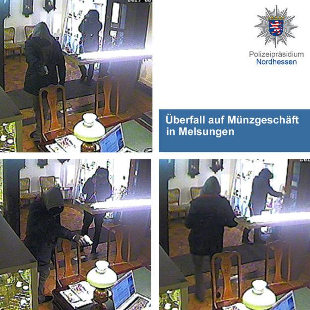 Öffentlichkeitsfahndung zu dem Überfall auf ein Münzkontor in Melsungen. Foto: Polizei