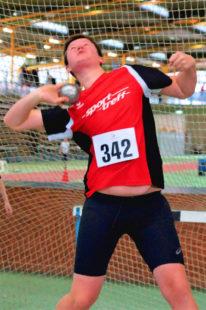 Luis André kam mit der 4kg-Kugel zum ersten Mal über die 14m-Marke. Foto: nh