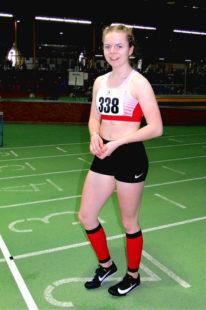 Mit der persönlichen 300m-Bestzeit von 42,88 Sekunden sorgte die 14-jährige Vivian Groppe für einen der Höhepunkte beim Dortmunder Hallensportfest. Foto: nh