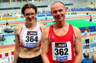Luise Zieba und Bernd Gabel vertraten in Halle an der Saale die MT Leichtathletik. Foto: nh