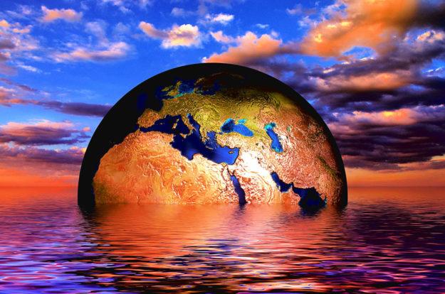 Wenn die Erde nicht untergehen soll, ist Handeln angesagt. Das ist die Botschaft der »Fridays for Future«. Fotomontage: Gerd Altmann | pixabay