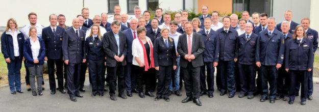 Amtseinführung für die neue Kreisbrandinspektorin Tanja Dittmar. Foto: nh