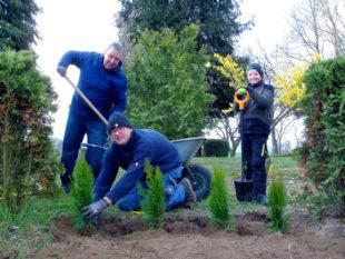 Grünanlagen, Flächen und Friedhofbewuchs werden in den Frühjahrsputz einbezogen. Foto: Andreas Göbel