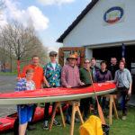 Die Kanuten vom Tuspo Borken trafen sich vor im April zum Anpaddeln. Foto: nh