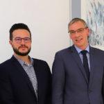 Der neue Vorstand der IHK-Regionalversammlung (v.li.): Eugen Knoth (IHK) Jannis Wieden (Stellvertreter), Horst Knauff (Vorsitzender) und Johannes Seyffarth (Stellvertreter). Foto: ihk