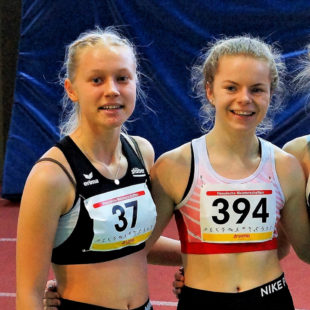 Carolin Schlung (12,47) und Vivian Groppe (12,49) beeindruckten in Monaco mit ihren großartigen Zeiten über 100 Meter. Foto: nh