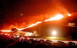 So sieht der Feuerräderlauf in Günsterode aus. Foto: Kultur- & Tourist-Info