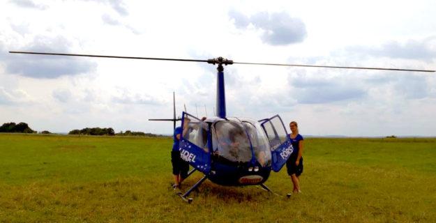 Heli-Ziegler lädt zu Rundflügen über die Kreisstadt ein. Foto: nh