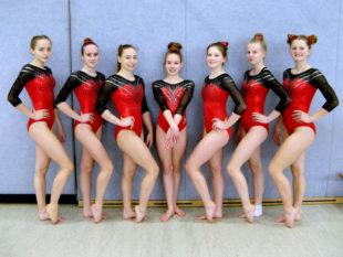 Das Mannschaftsfoto zeigt (v.li.) Merle Albers, Lisa Bussiek, Ruby van Dijk, Malin Bussiek, Luna Grösch, Lucia Sinning und Nele Schmoll. Foto: nh