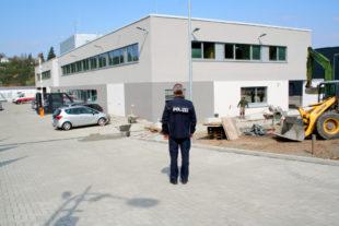 Blick auf die neue Polizeistation in der Nürnberger Straße. Foto: Polizei