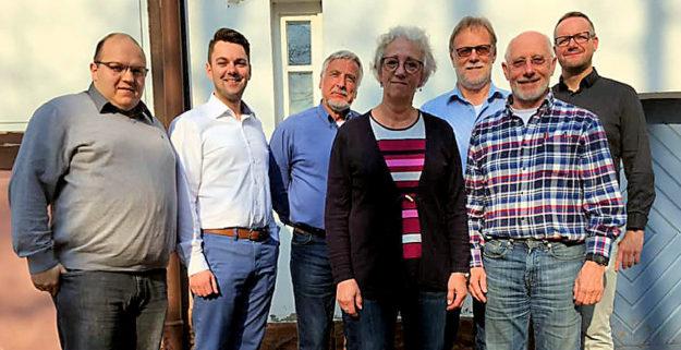Daniel Diebel, Patrick Gebauer, Gerhard Hosemann,Christa Ditscherlein, Detlef Schwierzeck, Peter Appenroth, Stefan Gsänger. Foto: nh