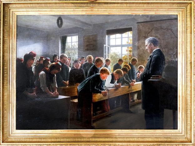 »Zum Morgengebet« von Fritz Sondermann (1836 – 1896). Foto: Dr. Simone C. De Santiago Ramos, Leiterin des Heimatmuseums der Schwalm