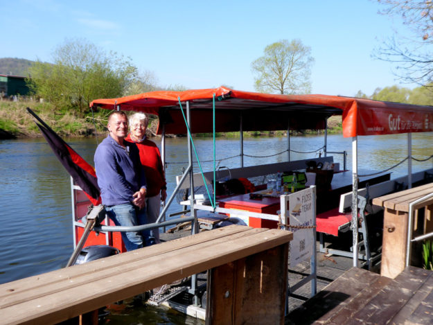 Das Team Fuldanixe empfängt seine Passagiere. Foto: Kultur- & Tourist-Info Melsungen