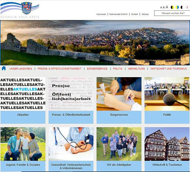 Reinschauen lohnt sich: So sieht der neue Internet-Auftritt des Landkreises aus. Screenshot: SEK-News