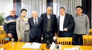 Manfred Grede, Claudia Ulrich, CDA-Kreisvorsitzender Dr. Rolf Hennighausen, Ehrengast Prof. Dr. Matthias Zimmer MdB, CDU-Kreisvorsitzender Mark Weinmeister sowie Steven Wagner (v.li.). Foto: nh