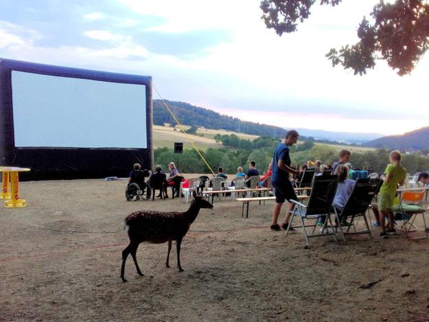 Open Air Kino im Naturzentrum Wildpark Knüll lädt zu tierischen Filmen unter dem Sternenhimmel ein. Foto: nh