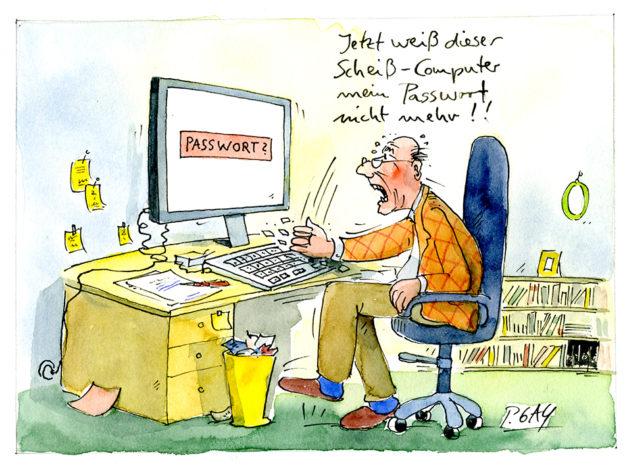Der Cartoonist Peter Gaymann beobachtet genau, wie sich Demenz im Alltag auswirken kann.