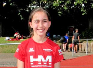 Alessia Oglialoro sicherte sich nicht nur den 3. Platz, die 12-Jährige verbsserte sich auch im 800m-Lauf um sieben Sekunden. Foto: nh