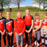 Marcel Al-Batat, Justin Enis, Lea-Marie Körber, Lenka Müller, Elly und Rachel Losenhausen (v.li.). Foto: Bernd Feldmann