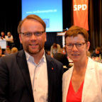 Bezirkschef und Stellvertreterin: MdB Timon Gremmels und die Europaabgeordnete Martina Werner. Foto: SPD